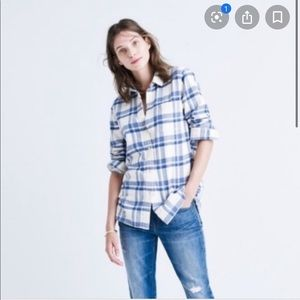 Madewell classic flannel in Akiva plaid